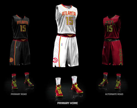 Neon Basketball Uniforms - The NBA's Atlanta Hawks Uniform Was Recreated with Neon Colors