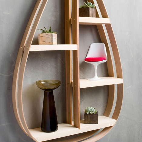 Teardrop Shelf Solutions - The Waver Tree Co. Designs a Striking Curvaceous Storage Unit