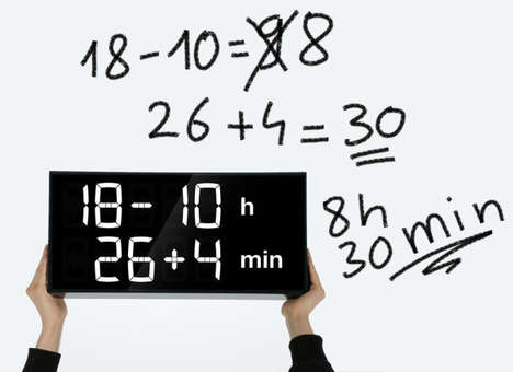 Math-Based Digital Clocks - This Clever Wall Clock Helps Users Improve Their Math Skills