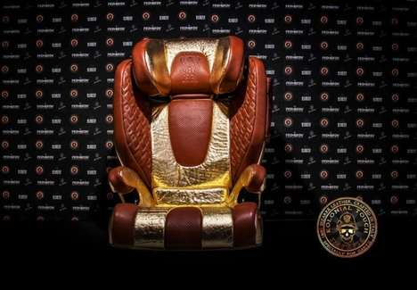 Bulletproof Car Seats - Dartz Created a Gold-Plated Bulletproof Car Seat for Traveling with Kids