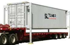 Self-Lifting Shipping Containers - The SL-Tainer Container Can Be Loaded and Unloaded Without Cranes