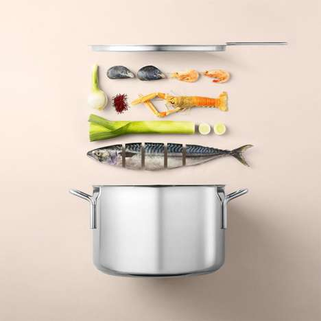 Pictorial Food Recipes - This Artist Has Created Visual Food Recipes Through Single Images