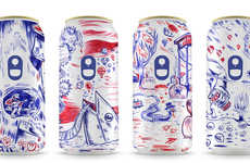 Season-Branded Beer Cans - These Beer Can Labels Use Doodles to Portray Each of the Four Seasons