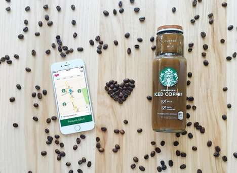 Mobile Coffee Deliveries - Lyft Teams with Starbucks to Give Offices a Caffeinated Afternoon Treat