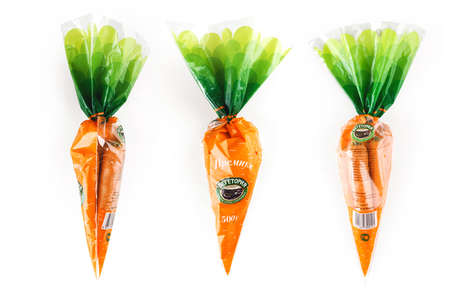 Self-Referencing Carrot Bags - Vegetoria's Playful Vegetable Bag Makes its Contents Clear