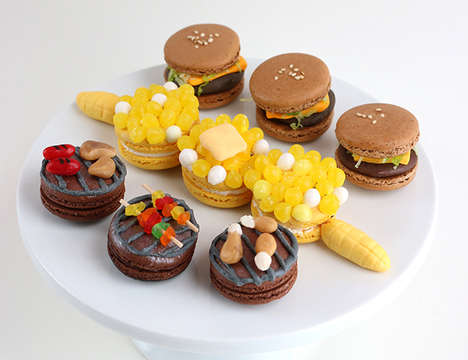 BBQ-Inspired Cookies - These DIY Macarons are Designed to Look Like Classic BBQ Dishes