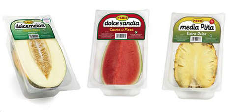 Sliced Fruit Packaging - Vicente Peris Sells Half Fruit Slices to Prevent Food Waste