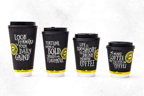 Self-Boasting Coffee Cups - This Coffee Brand Bluntly Voices Its Great-Tasting Coffee on Its Labels