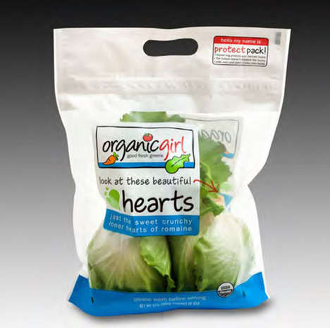 Secure Lettuce Bags - Organic Girl's Produce Bags Feature a Resealable Velcro Closure