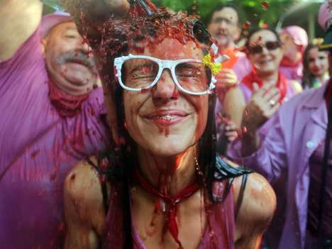Wine Fight Festivals - This Annual Rioja Festival Wine Fight in Spain Sloshes 130,000 Liters of Wine