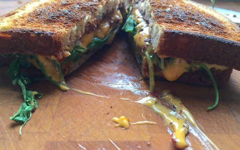 Vegan Cheese Sandwiches - Vegan Grilled Cheese Sandwiches Appeal to the Dairy-Free Audience