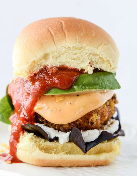Tortilla-Crusted Salmon Burgers - These Seafood Burgers Pertain to a Number of Cultural Dishes