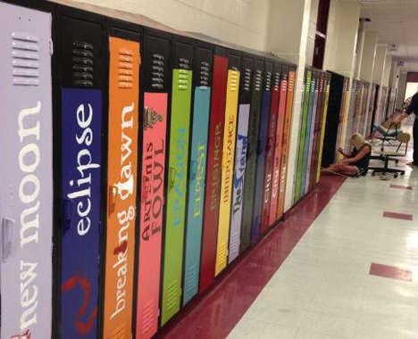 Book Spine Locker Art