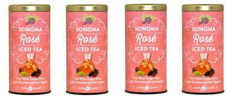 Wine-Inspired Iced Teas - These Refreshing Teas are Made from Freshly Harvested Wine Grape Skins