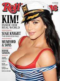 Nautical Reality Star Covers - The Kim Kardashian Photoshoot for Rolling Stone is Sultry and Candid