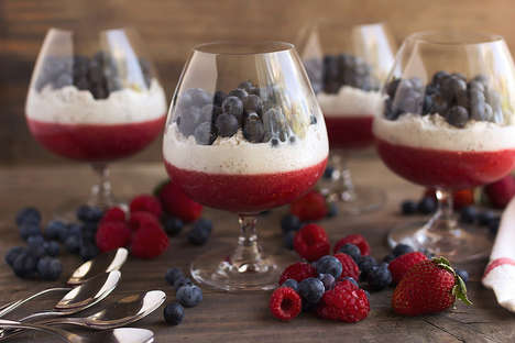 Superfood Patriot Parfaits - This Red, White and Blue Chia Seed Parfait is for Independence Day