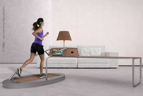 Cardio Workout Desks - This Design Fuses Office Furniture and Workout Equipment