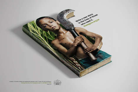 "Child Abuse Ads - The Abrinq Foundation Wants to ""Write a Story in the Lives of Those Who Need It"""