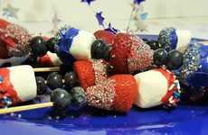 Patriotic Dessert Skewers - These Colorful Kebabs are Perfect for an Independence Day BBQ