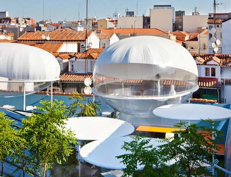 Rooftop Cloud Observatory Pods - These Cloud-Like Pods are Actually Outdoor Cooling Devices