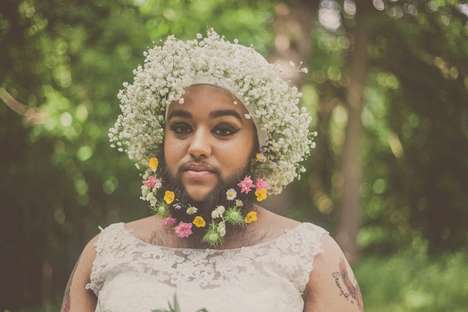 Bearded Bride Editorials - This Images Capture a Stunning Bride with Polycystic Ovary Syndrome