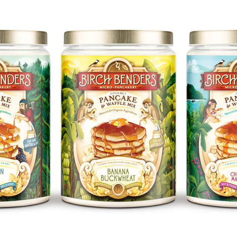 Tropical Pancake Mixes - This Pancake Mix Makes Exotic Breakfast Meals Just by Adding Water