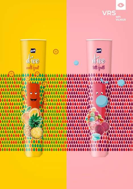 Squeezable Ice Cream Packaging - d'Ice Has Two Vibrantly Branded Children's Ice Pop Treats