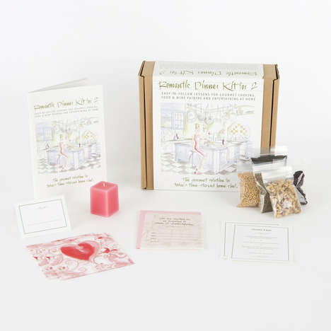 Romantic Dinner Kits - Style & Entertaining's Kit Supplies a Romantic Dinner for Two