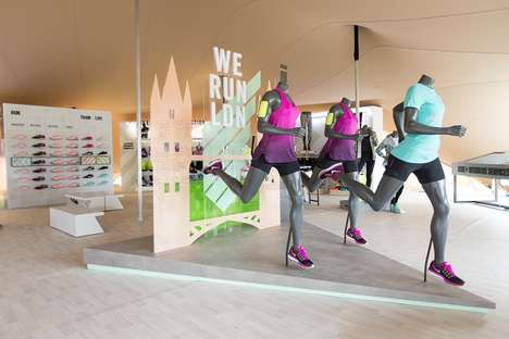 Race-Ready Runners Pop-Ups - The Nike Womens London Pop-Up is Revealed Ahead of the 10-KM Race