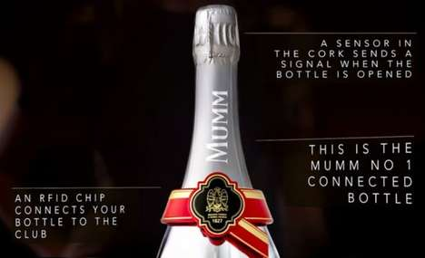 Digitally Connected Champagne Bottles - This High-Tech Champagne Can Trigger Audio & Visual Effects
