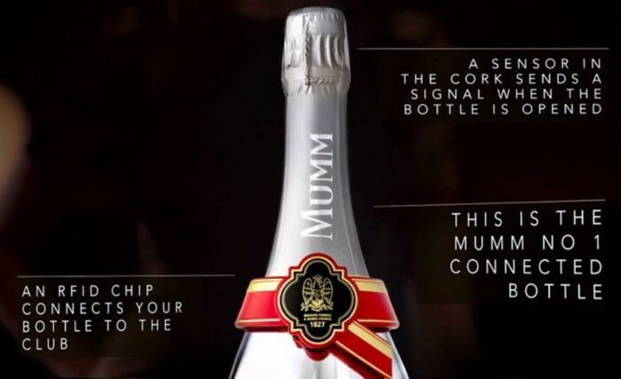 Digitally Connected Champagne Bottles