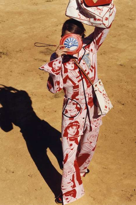 Cartoonish Geisha Menswear - The Loewe Spring Men's Collection Features a Cultural Aesthetic