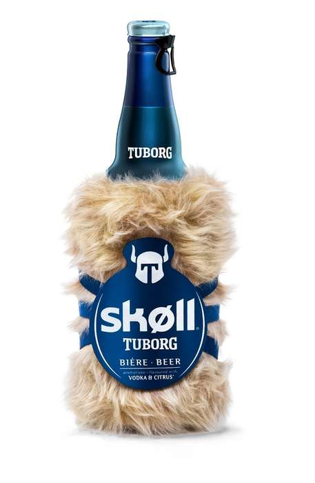 Furry Beer Bottles - SKØLL MØUMOÜTE's Bottled Beverage Design Comes Prepared for Winter