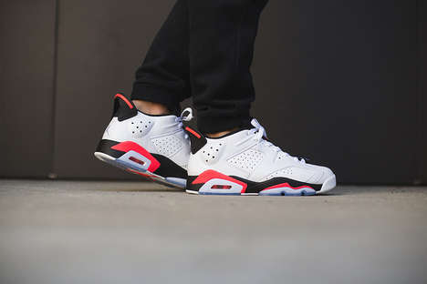 Retro Patriotic Sneakers - The Air Jordan 6 Low White Infrared Hits Stores July 4th