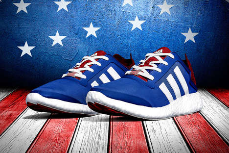 Customizable Retro Sneakers - The adidas Pure Boost Sneaker Comes in an American Version