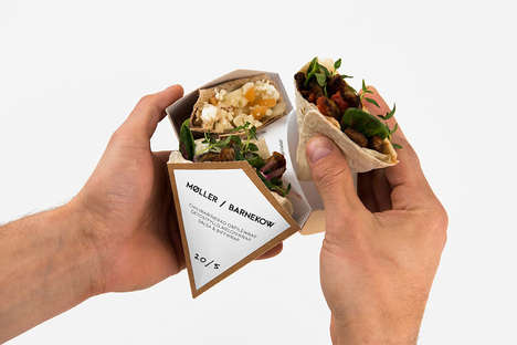 Wrap Packaging Concepts - This Convenient To-To Packaging for Wrap Sandwiches is a Gamechanger