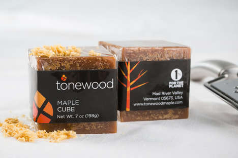 Maple Sugar Blocks - Tonewood's Maple Sugar Dessert Garnish Comes in Block Form