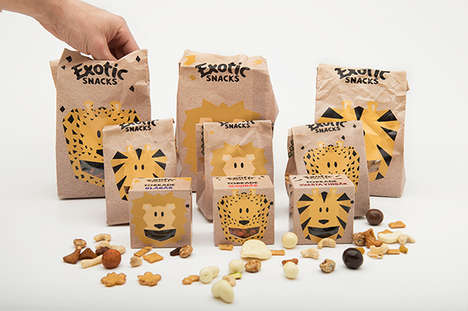 Exotic Kids Snack Packaging - These Packaging Solutions Elevate the Healthy Kids Product