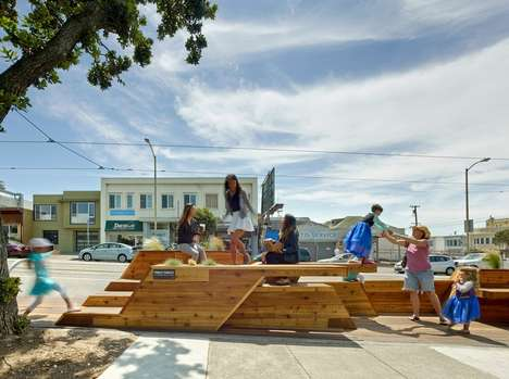 Repurposed Street Parking - San Francisco Has Replaced a Section of Parking Spots with Benches