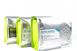 Supersonic Coffee Beans Boast Chic Metallic Packaging