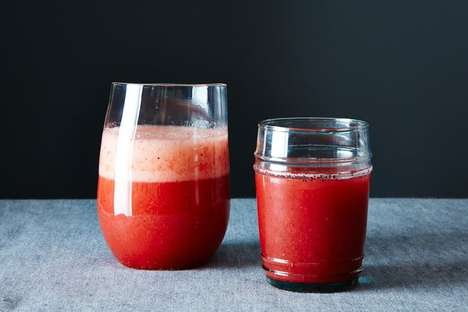 Strawberry Champagne Cocktails - The Rossini Combines Fresh Strawberry Juice and Bubbly