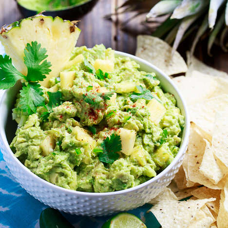 Tropical Spicy Guacamole - This Creamy Guacamole Combines Sweet Pineapple and Spicy Cayenne Pepper