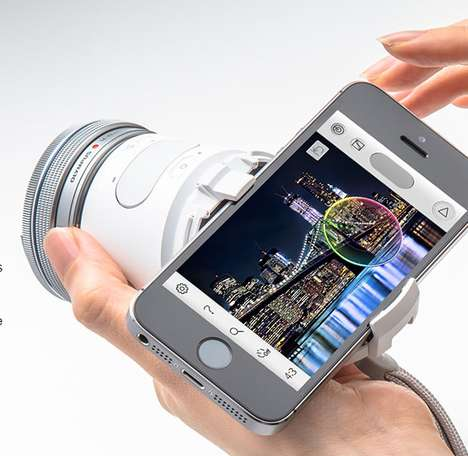 Compact Smartphone Cameras - The Olympus AIR A01 Turns Any iPhone Into a Mirrorless Camera