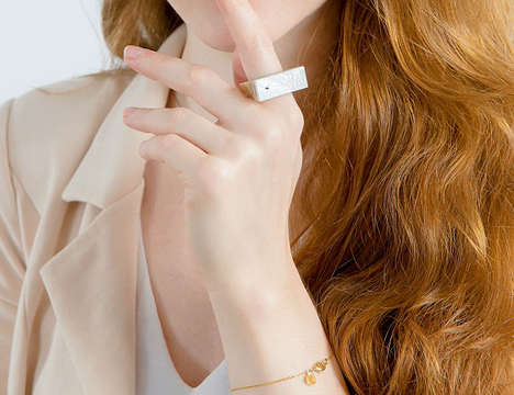 Smartphone-Integrated Rings - The 'Aring' is a Chic Ring That Facilitates Touch-Free Phone Operation