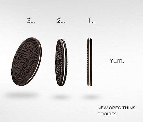Ultra Slim Sandwich Cookies - These Light and Delicate Cookies from Oreo are Called Oreo Thins
