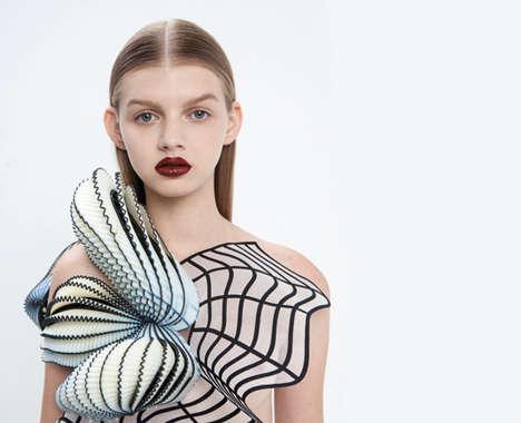 Graphic 3D-Printed Fashion