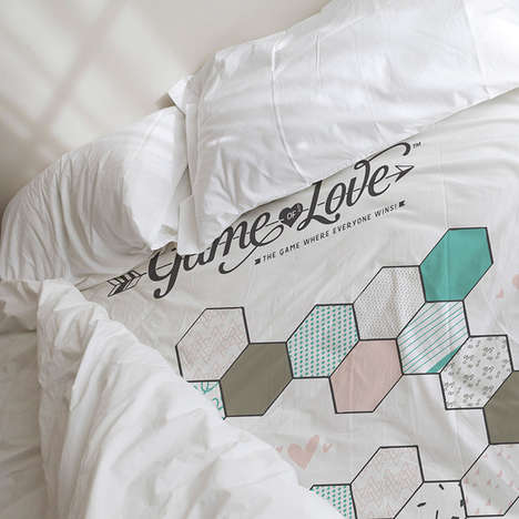Customizable Gamified Bed Sheets - The Game of Love Kit Turns Any Bed into a Romantic Game Night
