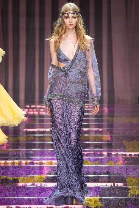 Celestial Woodland Couture - The Atelier Versace Fall Couture Line Features Fairy-Friendly Style