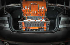 Luxurious Picnic Baskets - The Aston Martin Picnic Hamper Combines Style and Functionality