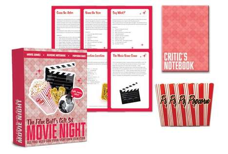 Romantic Movie Night Kits - The Film Buff's Gift Set Turns Movie Night into an Exploratory Evening